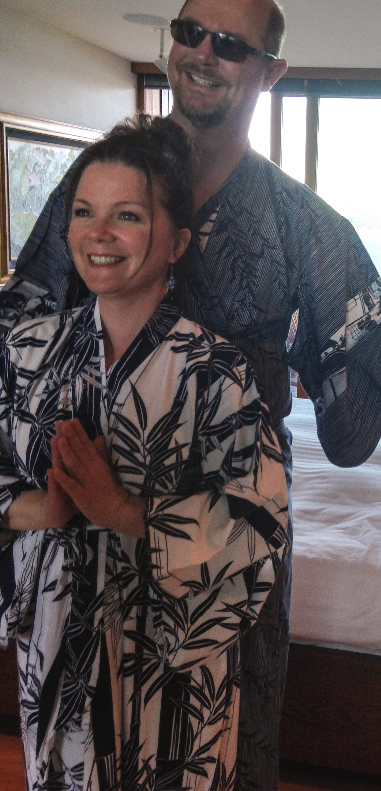 Chris and Monica in their yukata